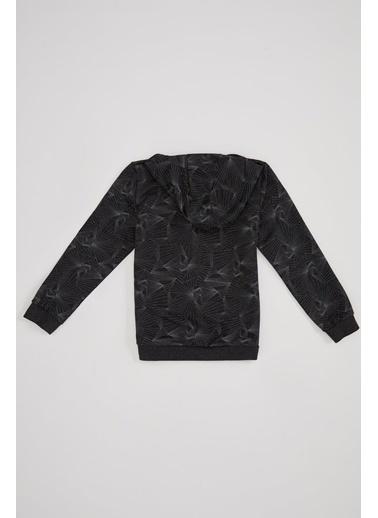 Defacto –Fit Erkek Çocuk Kapüşonlu Sweatshirt Gri